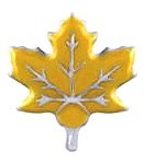 Yellow Fall Leaf Floating Charm